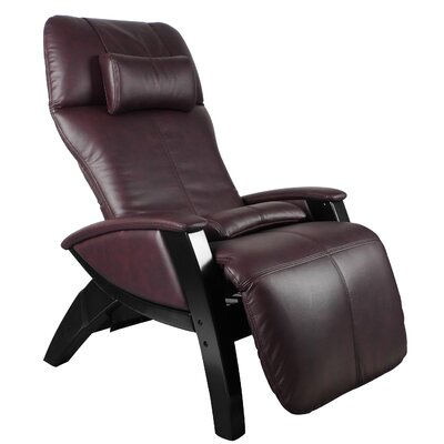 Dual Power Zero Gravity Recliner Color: Chocolate