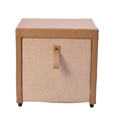 Parina Cube Ottoman Color: Sand