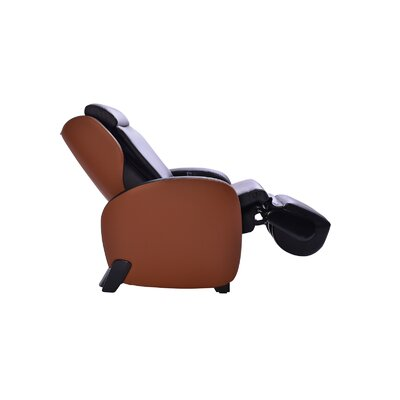 Massage Chair with Footrest Upholstery: Black/Toffee