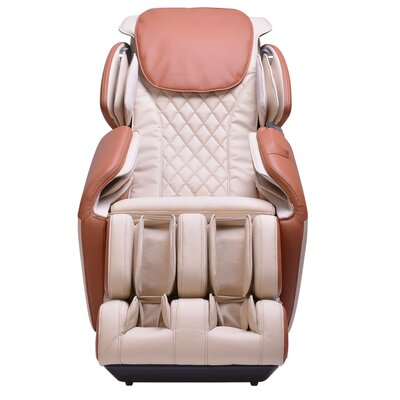 Steel Frame Chair with Footrest Massage Chair Upholstery: Ivory