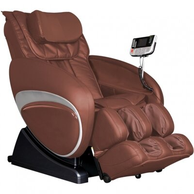 16027 Robotic Zero Gravity Reclining Massage Chair Upholstery: Brown