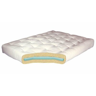 8 Foam & Cotton Futon Mattress Color: White, Size: Twin