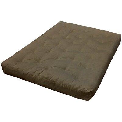9 Foam and Cotton Futon Mattress Upholstery: Sage
