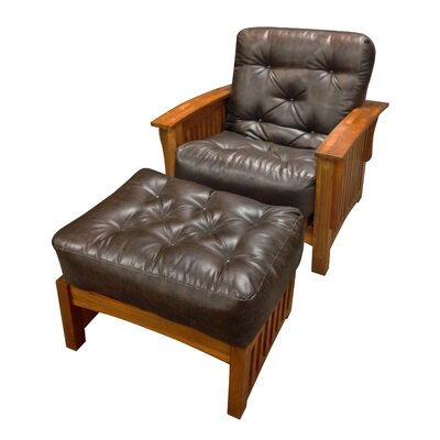 4 Cotton Ottoman Size Futon Mattress Upholstery: Dark Brown