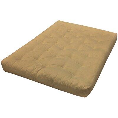 4 Cotton Loveseat Size Futon Mattress Upholstery: Tan