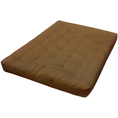 4 Cotton Futon Mattress Upholstery: Chocolate, Size: Full