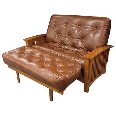 6 Cotton Ottoman Size Futon Mattress Upholstery: Saddle Brown