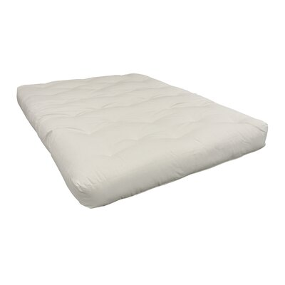 Foam & Cotton Futon Mattress Size: Twin, Color: White, Thickness: 8