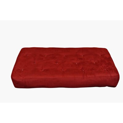 8 Cotton Chair Size Futon Mattress Upholstery: Burgundy