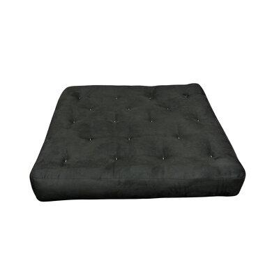 4 Cotton Cotton Loveseat Size Futon Mattress Upholstery: Black
