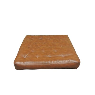 Visco Coil II 7 Cotton Loveseat Size Futon Mattress Upholstery: Saddle Brown
