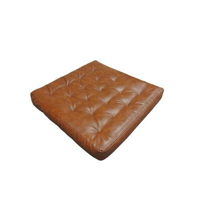 6 Cotton Loveseat Size Futon Mattress Upholstery: Saddle Brown