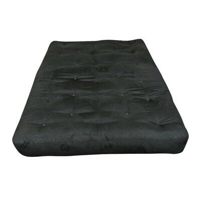 8 Cotton Cott Size Futon Mattress Upholstery: Black