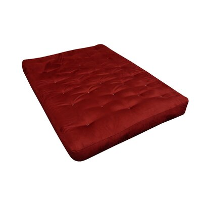 10 Cotton Loveseat Size Futon Mattress Upholstery: Burgundy