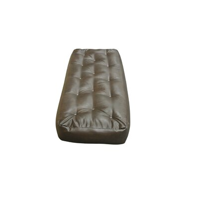 Feather Touch I 7 Cotton Ottoman Size Futon Mattress Upholstery: Dark Brown