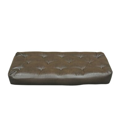 6 Cotton Ottoman Size Futon Mattress Upholstery: Dark Brown