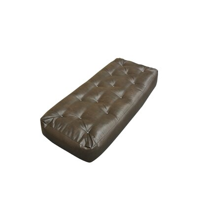 4 Cotton Ottoman Size Futon Mattress Upholstery: Dark Brown
