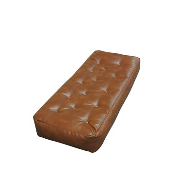 9 Foam and Cotton Ottoman Size Futon Mattress Upholstery: Saddle Brown
