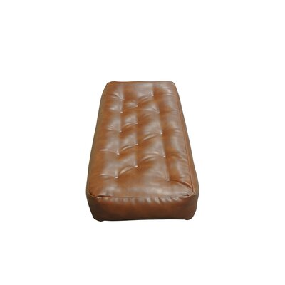 8 Cotton Ottoman Size Futon Mattress Upholstery: Saddle Brown