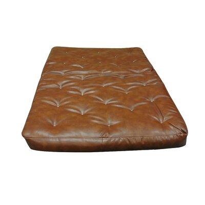 8 Cotton Futon Mattress Size: Twin, Upholstery: Saddle Brown