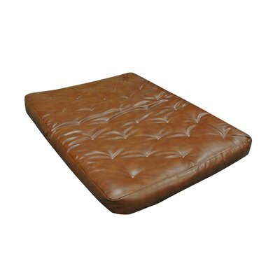 9 Foam and Cotton Futon Mattress Upholstery: Saddle Brown