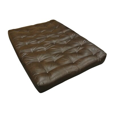 6 Cotton Cott Size Futon Mattress Upholstery: Dark Brown