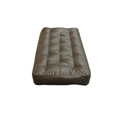 Feather Touch I 7 Cotton Chair Size Futon Mattress Upholstery: Dark Brown