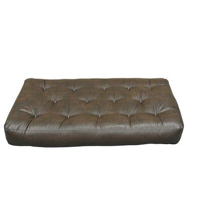 10 Cotton Chair Size Futon Mattress Upholstery: Dark Brown