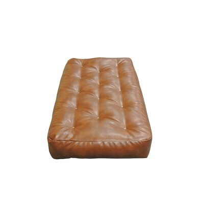 Feather Touch I 7 Cotton Chair Size Futon Mattress Upholstery: Saddle Brown