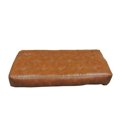 8 Cotton Chair Size Futon Mattress Upholstery: Saddle Brown