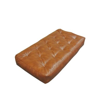 6 Foam and Cotton Chair Size Futon Mattress Upholstery: Saddle Brown