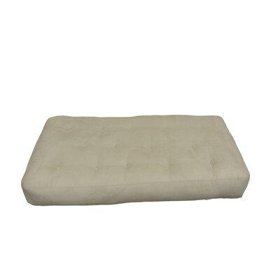 4 Cotton Chair Size Futon Mattress Upholstery: Tan
