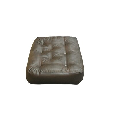 8 Cotton Ottoman Size Futon Mattress Upholstery: Dark Brown