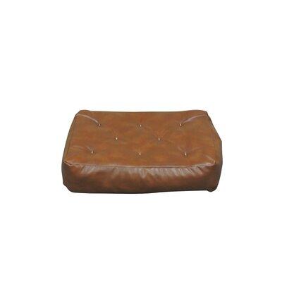 10 Cotton Ottoman Futon Mattress Upholstery: Saddle Brown