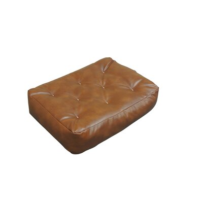 4 Cotton Ottoman Size Futon Mattress Upholstery: Saddle Brown