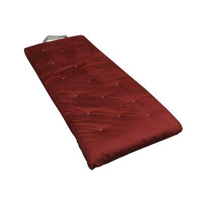 Overnighter 3 Cotton Futon Mattress Upholstery: Burgundy