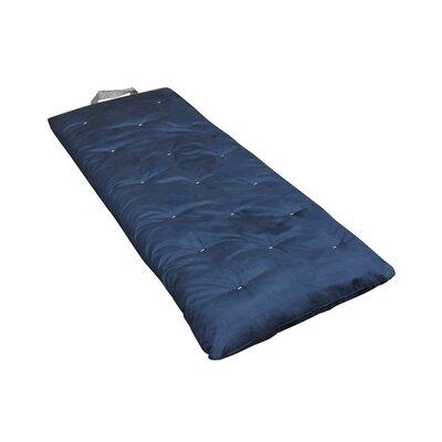 Overnighter 3 Cotton Futon Mattress Upholstery: Blue