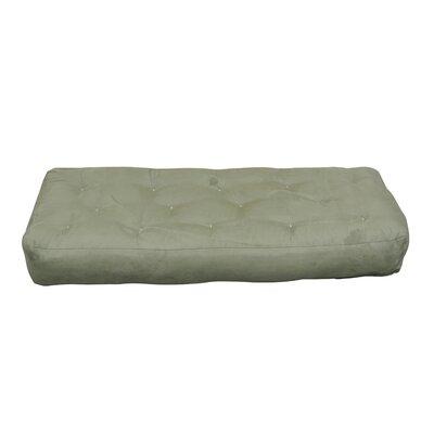 9 Foam and Cotton Ottoman Size Futon Mattress Upholstery: Sage