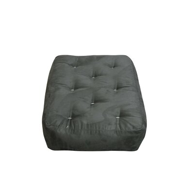 10 Cotton Ottoman Size Futon Mattress Upholstery: Black