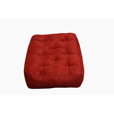 10 Cotton Ottoman Size Futon Mattress Upholstery: Burgundy