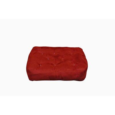 8 Cotton Ottoman Size Futon Mattress Upholstery: Burgundy