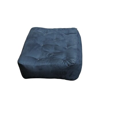 10 Cotton Ottoman Size Futon Mattress Upholstery: Blue