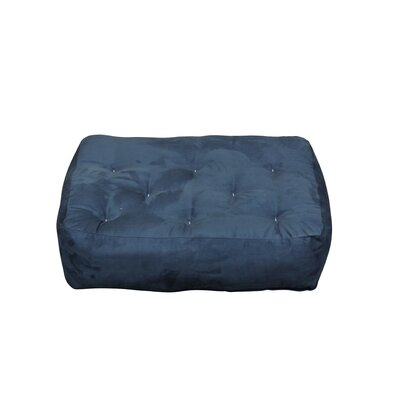 8 Cotton Ottoman Size Futon Mattress Upholstery: Blue