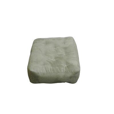 10 Cotton Ottoman Size Futon Mattress Upholstery: Sage