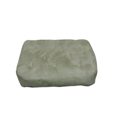 9 Foam and Cotton Ottoman Size Futon Mattress Upholstery: Sage