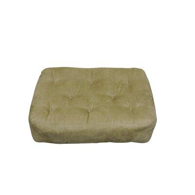 9 Foam and Cotton Ottoman Size Futon Mattress Upholstery: Chocolate