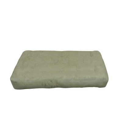 4 Cotton Chair Size Futon Mattress Upholstery: Sage