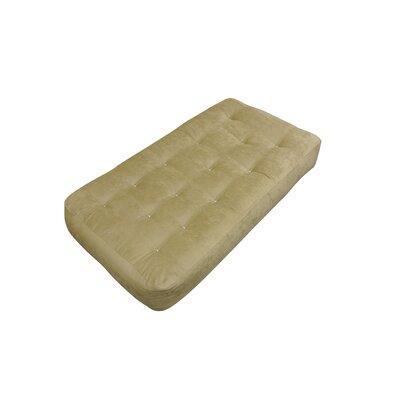 8 Cotton Chair Size Futon Mattress Upholstery: Chocolate