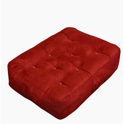 4 Cotton Ottoman Size Futon Mattress Upholstery: Burgundy