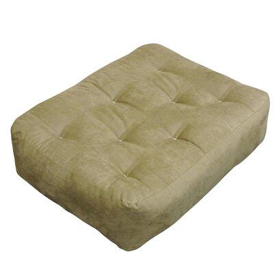 4 Cotton Ottoman Size Futon Mattress Upholstery: Chocolate